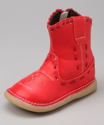Uniquely Squeaky Red Don Squeaker Boot