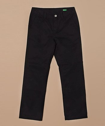 Black Chino Pants - Boys