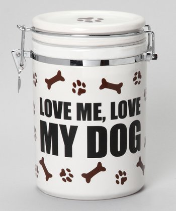 'Love Me, Love My Dog' Treat Jar