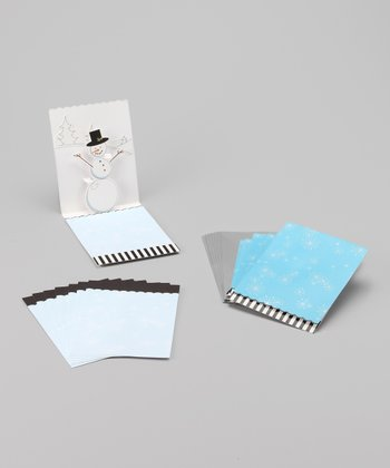 Holiday Snowman Pop-Up Card Set