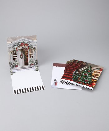 Holiday Home Pop-Up Imprintable Card Set