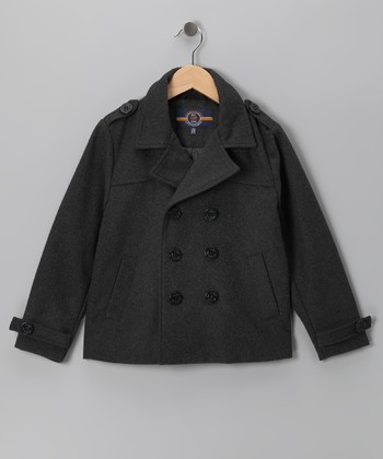 Charcoal Peacoat - Boys