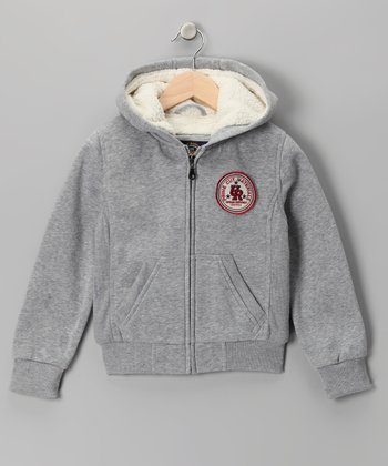 Gray Fleece Zip-Up Hoodie - Boys