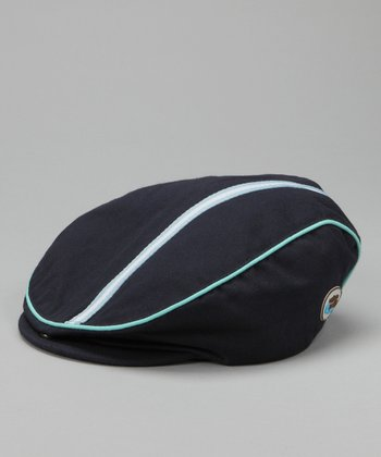 Navy & Blue Newsboy Hat