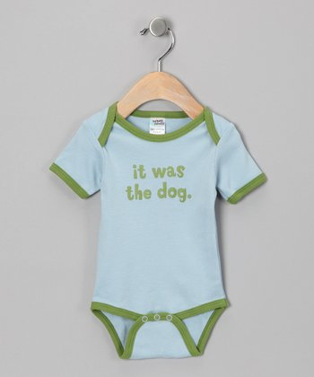 Blue 'It Was The Dog' Bodysuit - Infant