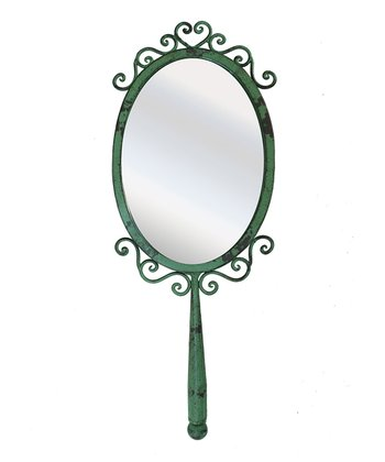 Green Whimsical Hand Mirror