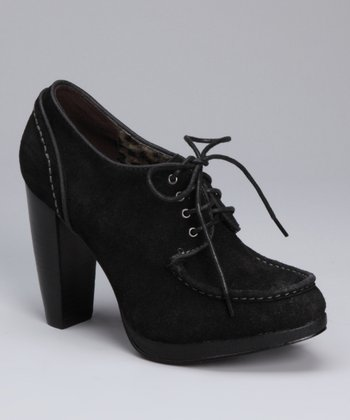 Black Alicia Suede Pump