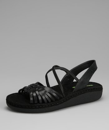 Black Carissa Wedge Sandal