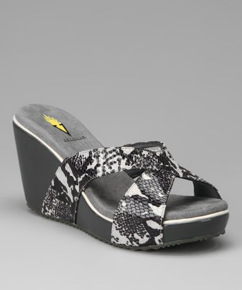 Gray Davina Wedge Sandal