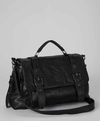 Black Greenwich Shoulder Bag
