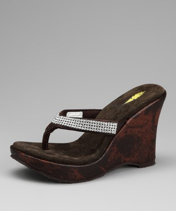 Brown Icing Wedge Sandal