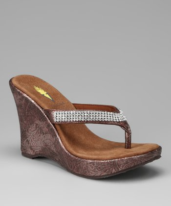Copper Icing Wedge Sandal