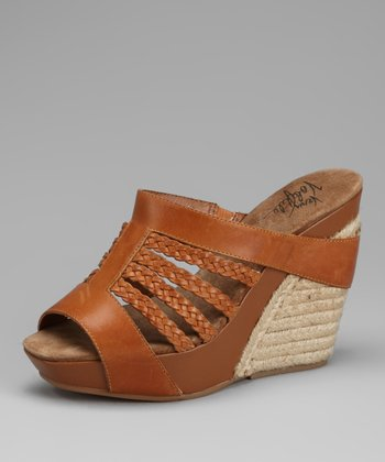 Tan Peru Wedge Sandal