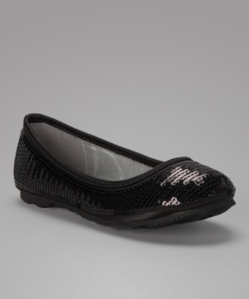 Black Regal Ballet Flat