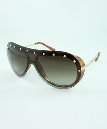 Havana Brown Studded Sunglasses