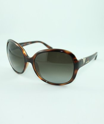 Dark Havana 'V' Sunglasses
