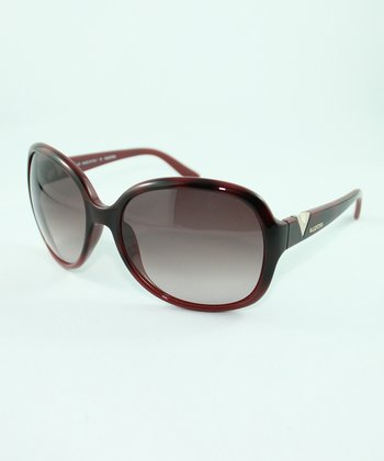 Red Havana & Cherry 'V' Sunglasses