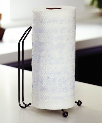 Black Chrome Paper Towel Stand