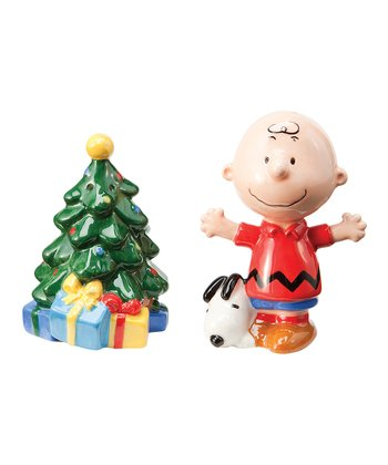 Vandor Peanuts Holiday Salt & Pepper Shakers