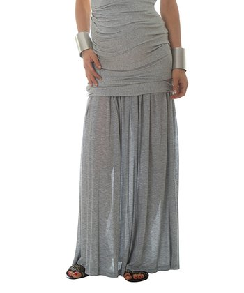 Vanessa Knox Heather Gray Bella Maternity Maxi Skirt