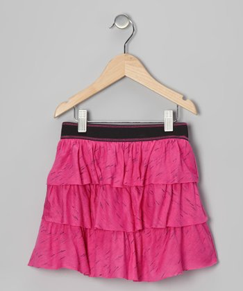 Pink Tiered Ruffle Skirt - Toddler & Girls