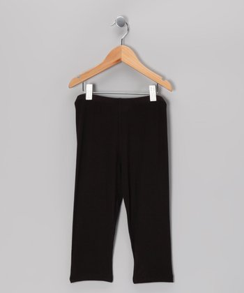 Black Capri Leggings - Toddler
