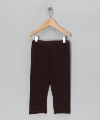 Coffee Capri Leggings - Toddler & Girls