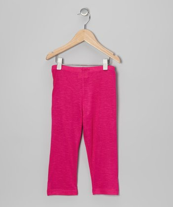 Fuchsia Capri Leggings - Toddler