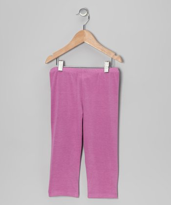 Lilac Capri Leggings - Toddler