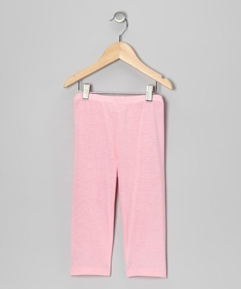Light Pink Capri Leggings - Toddler