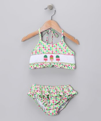 Pink & Green Ice Cream Sunsuit - Infant