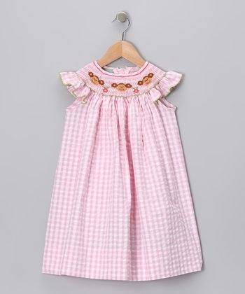 Pink Gingham Monkey Dress - Infant, Toddler & Girls