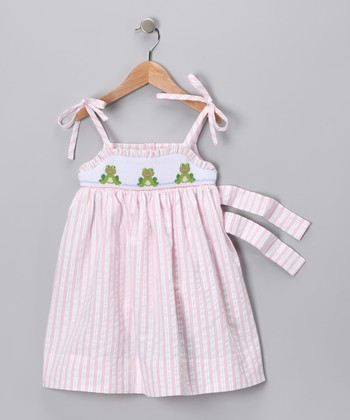 Pink Frog Swing Dress - Infant, Toddler & Girls