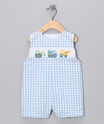 Blue Gingham Truck John Johns - Infant & Toddler