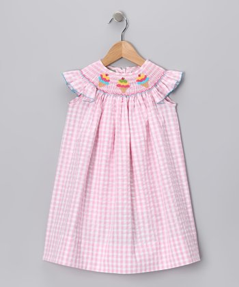Pink Ice Cream Angel-Sleeve Dress - Infant & Girls