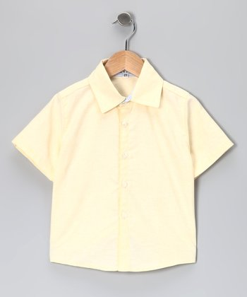 Butter Yellow Button-Up - Infant & Boys