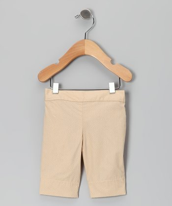 Khaki Pin Dot Bermuda Shorts - Infant & Girls