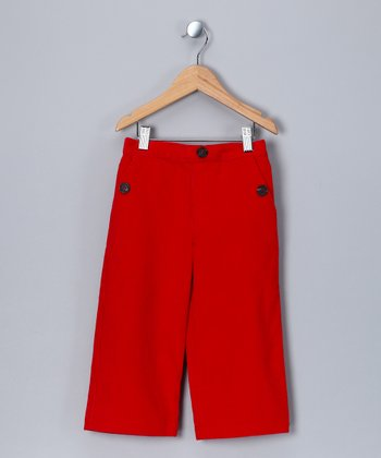 Red Corduroy Pants - Boys