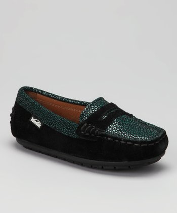 Venettini Green & Black Rain Savor Loafer