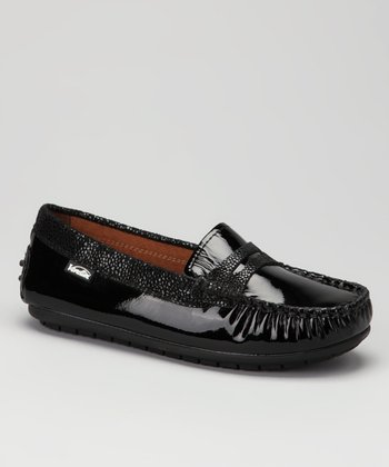 Venettini Black Rain Patent Savor Loafer