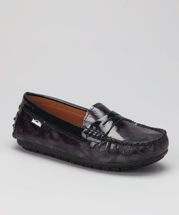 Venettini Blue Brush Patent Savor Loafer
