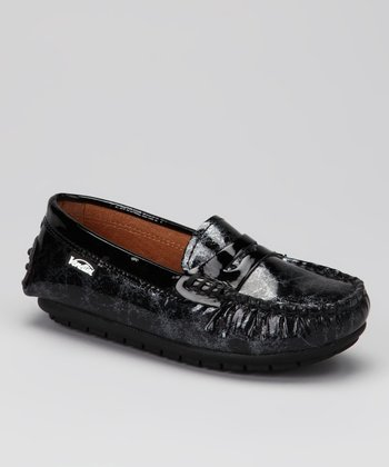 Venettini Black Marble Patent Savor Loafer