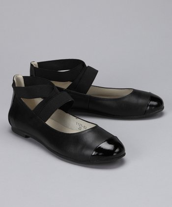 Black Patent Toe Amy Ballet Flat