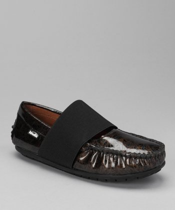 Black Lace Lily Loafer