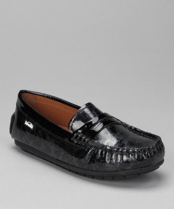 Black Lace Patent Savor Loafer