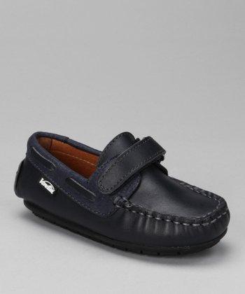 Navy Leather & Stone Samy Moccasin