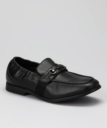Black Buckle Frank Loafer
