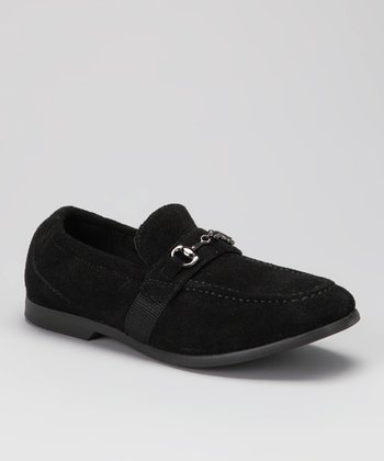Black Suede Frank Loafer