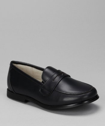 Navy Oil Mark Loafer