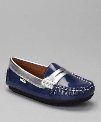 Blue Brushed Patent & Silver Savor Loafer